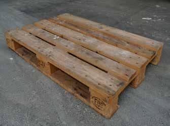 Used EPAL Euro pallet 1200 x 800 x 145 mm B-grade, HT ISPM-15